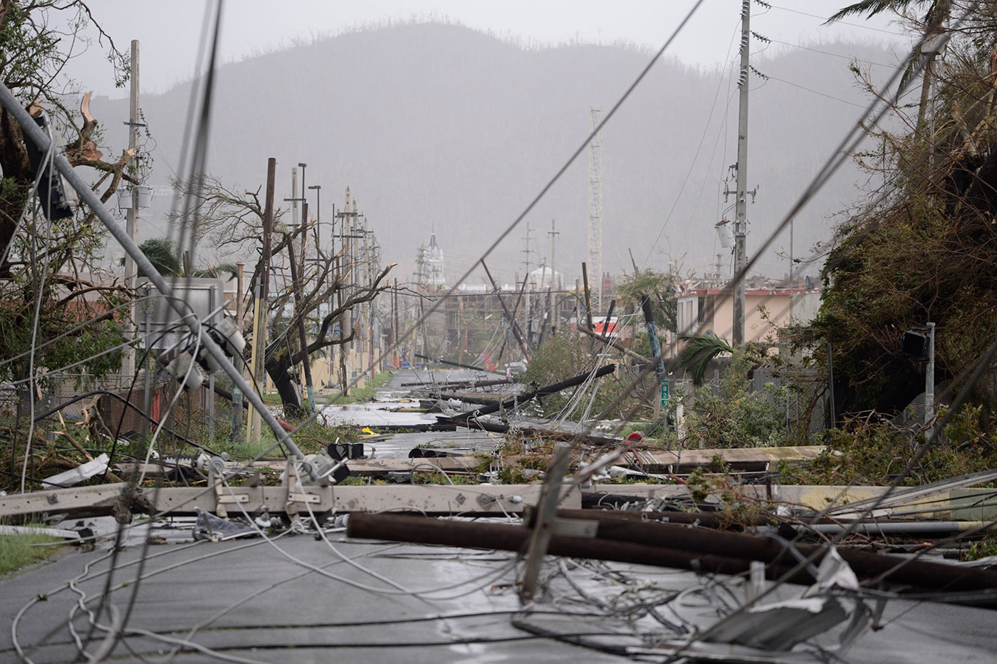 Disaster site in Puerto Rico